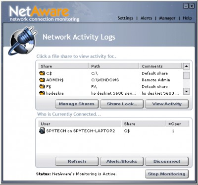 NetAware 1.20 screenshot