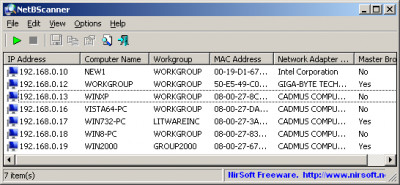 NetBScanner 1.11 screenshot