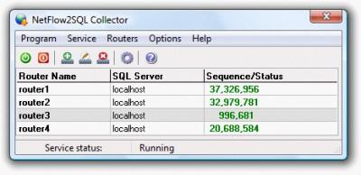 NetFlow2SQL Collector 2.0.1045 screenshot