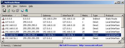 NetRouteView 1.35 screenshot