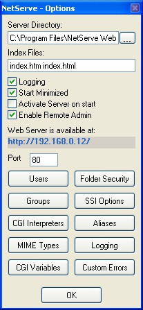 NetServe Web Server 1.0.53 screenshot