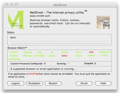 NetShred X 4.7.7 screenshot