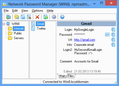 Network Password Manager 5.3 screenshot