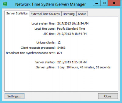 Network Time System 2.0.1 screenshot