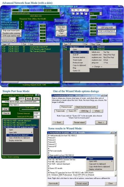 NetworkActiv Port Scanner 4.0 screenshot