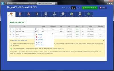 NetworkShield Firewall 3.0.370 screenshot