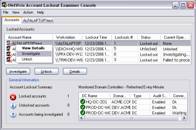 Netwrix Account Lockout Examiner 4.187.380 screenshot