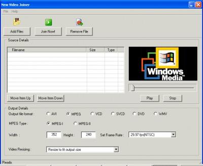 New Video Joiner 1.1 screenshot