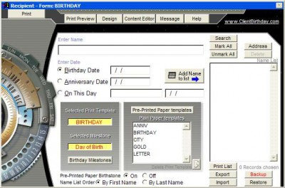News of the Past - Birthday Post 2007 screenshot