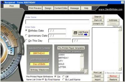 News of the Past - Birthday Post 2007 screenshot