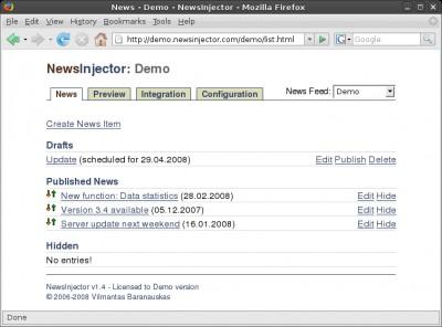 NewsInjector 1.4 screenshot
