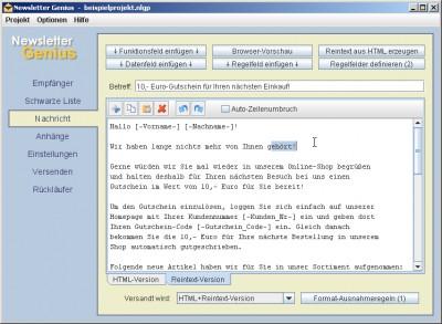 Newsletter Genius 3.6 screenshot