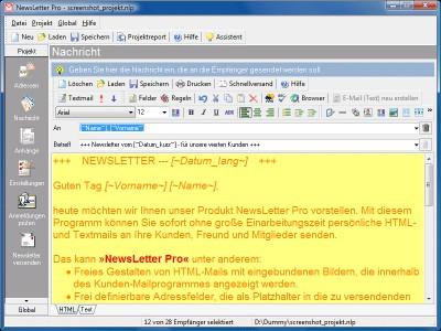 NewsLetter Pro 3.00 screenshot