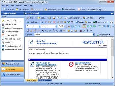 Newsletter Software SuperMailer 10.90 screenshot