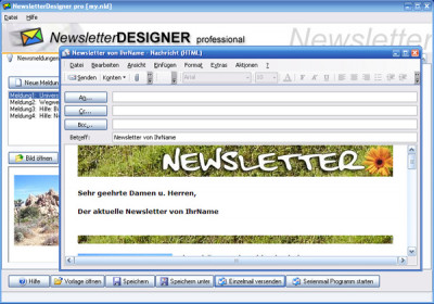 NewsletterDesigner pro 11.3.7 screenshot