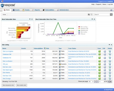 Nexpose Community Edition for Win. x86 5.0 screenshot