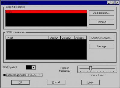 nfsAxe Windows NFS Client and NFS Server 3.6 screenshot