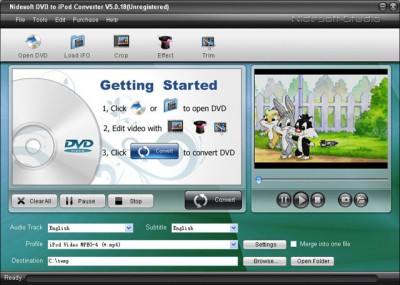 Nidesoft DVD to iPod Suite 2.3.56 screenshot
