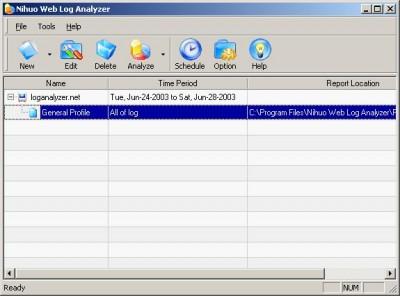 Nihuo Web Log Analyzer 3.3 screenshot