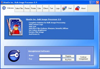 NineOn Inc. Bulk Image Processor 0.9 screenshot