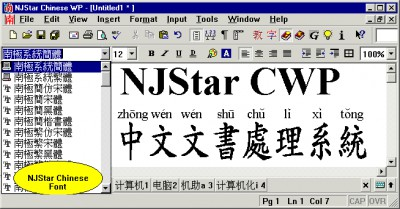 NJStar Chinese WP 6.10 screenshot
