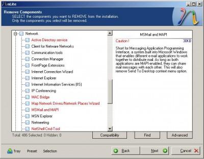 nLite 1.4.1 screenshot