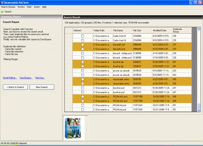 NoClone Enterprise-duplicate file finder 2011-5.0.4 screenshot