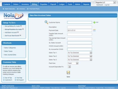 NolaPro Free Accounting 5.0.20299 screenshot