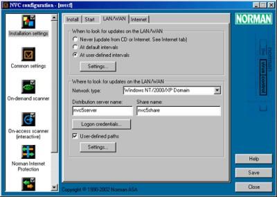 Norman Virus Control 5.8 screenshot