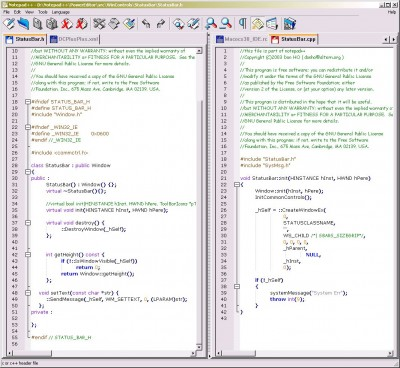 Notepad++ v4.8.2 screenshot