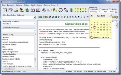 Notizen-Manager 2012.1.391 screenshot