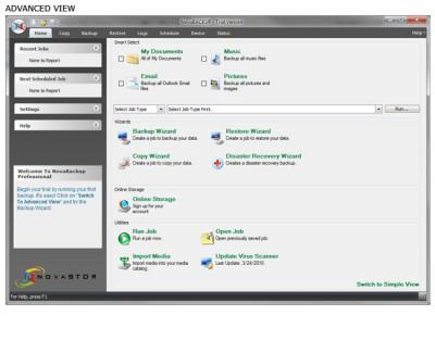 NovaBACKUP Server 17 screenshot