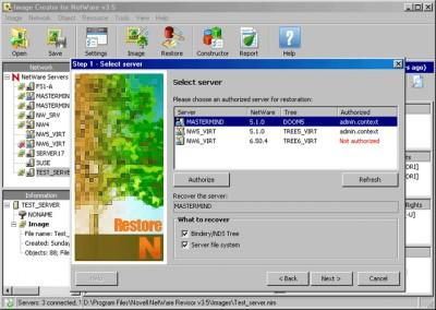 Novell NetWare Revisor 3.8 screenshot