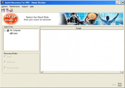 Novell NSS Data Recovery by Unistal 10.02 screenshot