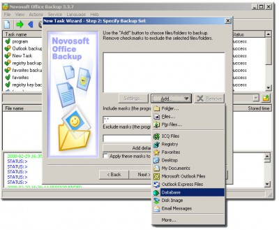 Novosoft Office Backup 3.3.7 screenshot