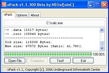 nPack 2.0.100.20 screenshot
