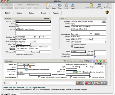 NRGship UPS  - FileMaker Toolkit 1.2 screenshot