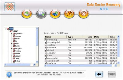NTFS Formatted Partition Data Recovery 3.0.1.5 screenshot