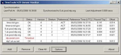 NTP Server Monitor 1.0.001 screenshot