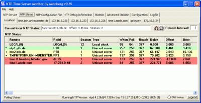 NTP Time Server Monitor 0.9l screenshot