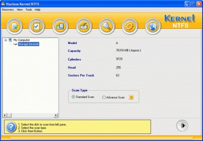 Nucleus Kernel NTFS Data Recovery Software 4.03 screenshot