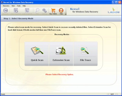Nucleus Windows Data Recovery Software 11.01.01 screenshot