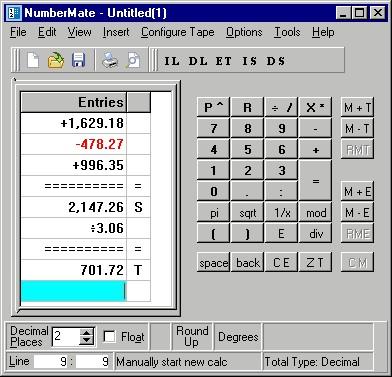 NumberMate 2.1.3 screenshot