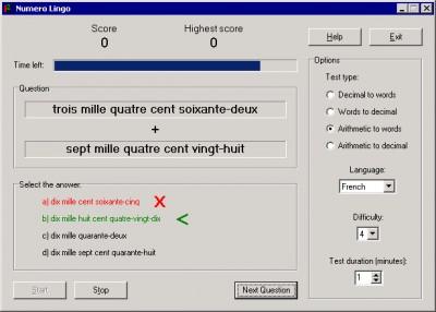 Numero Lingo 2.35 screenshot