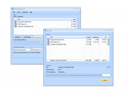 NXPowerLite 3.0.5 screenshot