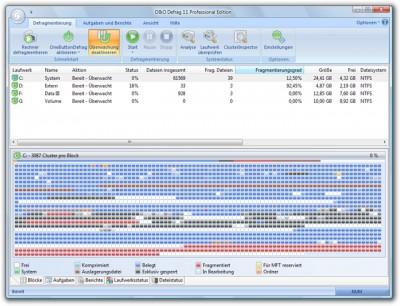 O&O Defrag 11 Pro 11.5 screenshot
