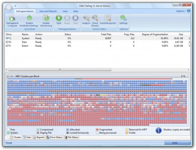 O&O Defrag 11 Server Edition 11.5 screenshot