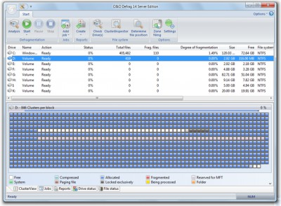 O&O Defrag 14 Server Edition 14.5 screenshot
