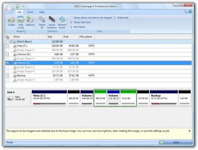 O&O DiskImage 4 Professional Edition 4.0 screenshot