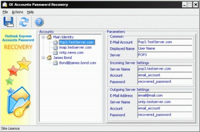 OE Accounts Password Recovery 2.1.8.7 screenshot